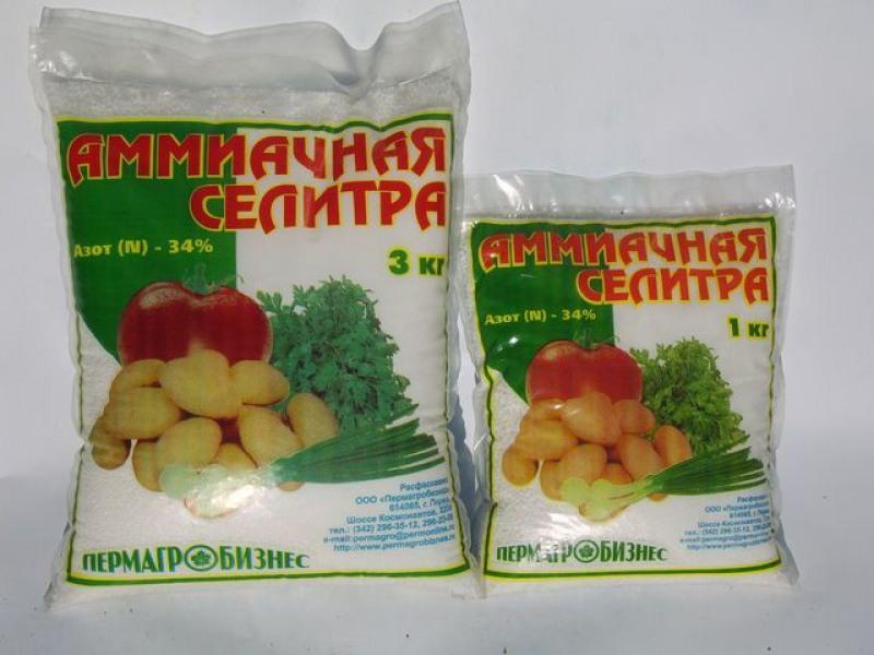 Аммиачная селитра - свойства и применение на огороде и садоводстве