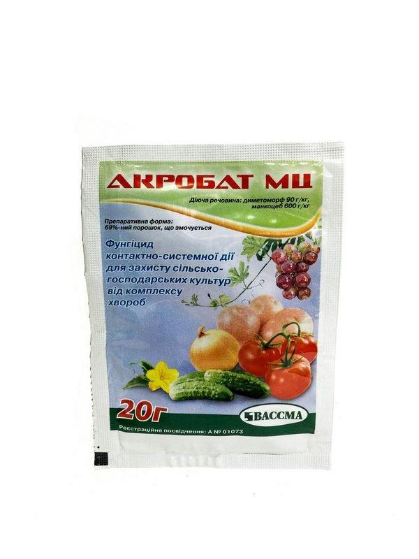 Фунгицид Акробат МЦ - применение эффективного препарата для растений и отзывы дачников